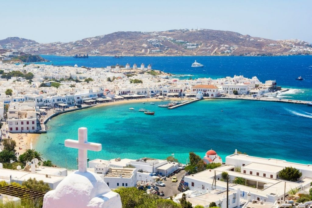 Ostrvo Mikonos u Egejskom moru